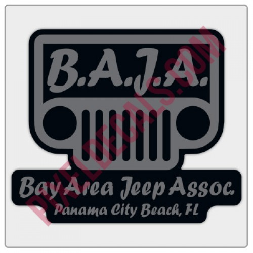 BAJA Grey/Black Logo Decal