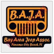 BAJA Orange/Black Logo Decal