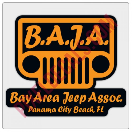 BAJA Orange/Black Logo Decal