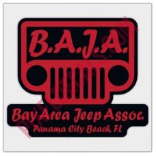 BAJA Red/Black Logo Decal