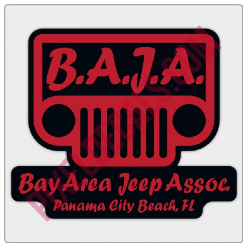 BAJA Red/Black Logo Decal