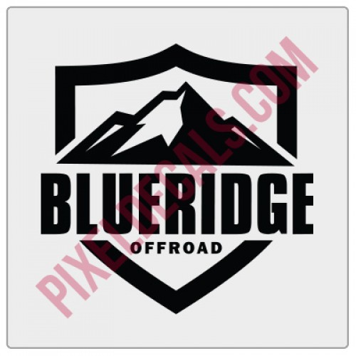 Blue Ridge Offroad Shield Decal
