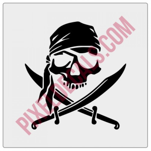 Calico Jack w/ Head Scarf Decal