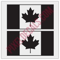 Canadian Flag Decals - 1 Color
