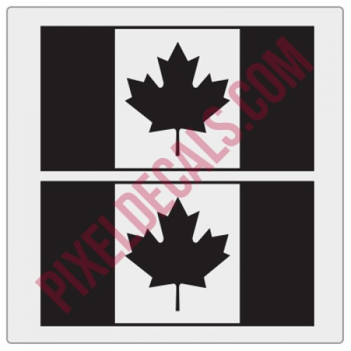 Canadian flag decals 1 color