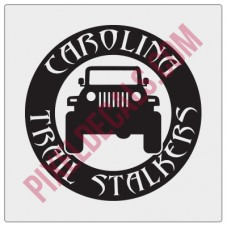 Carolina Trail Stalkers Round Decal