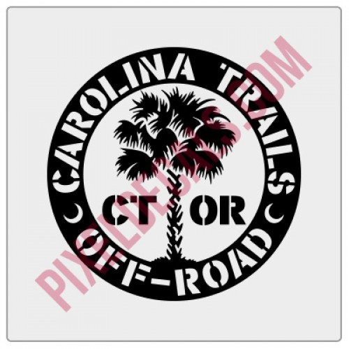 Carolina Trails Off-Road Round Decal