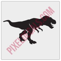 T-Rex Windshield Chaser Decal