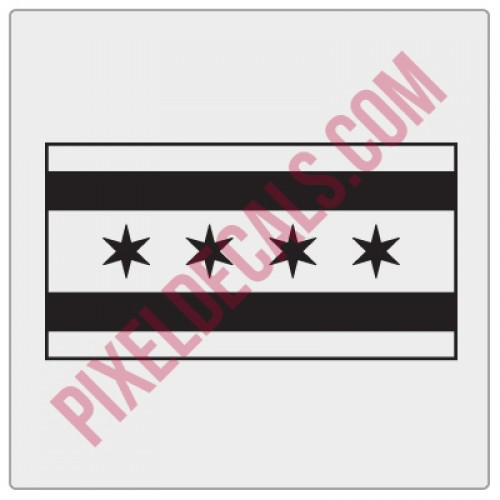 Chicago Flag Decal