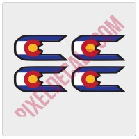 "Colorado ""C"" Replacement for Rubi JL Decals"