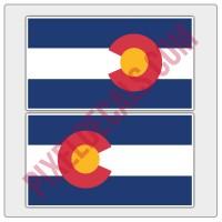 Colorado Flag Decals - Color