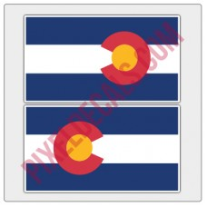 Colorado Flag Decals - Color