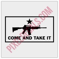Come and Take It M4 Carbine Decal