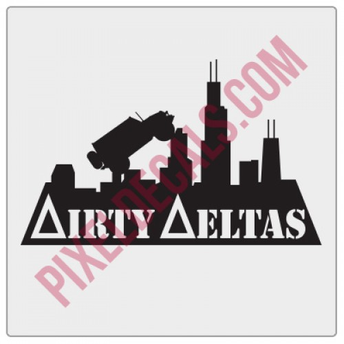 Chicagoland Dirty Deltas Skyline Decal