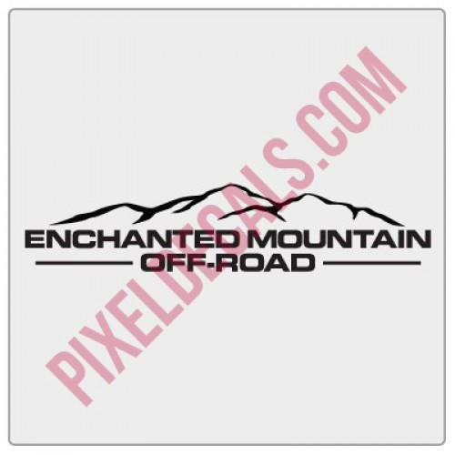 Enchanted Mountain Offroad Simple Logo Decal