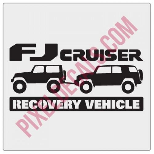 Jk 2 door fj cruiser recovery vehicle decal
