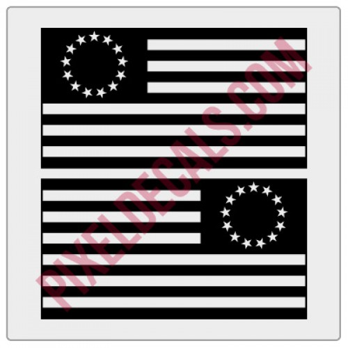 Betsy Ross Flag Decals - 1 Color