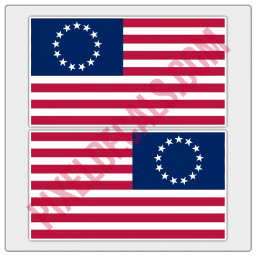 Betsy Ross Flag Decals - Color