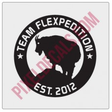 Team Flexpedition Decal - 1 color