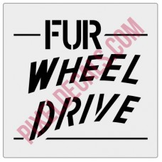 FUR Wheel Drive Tailgate Decal