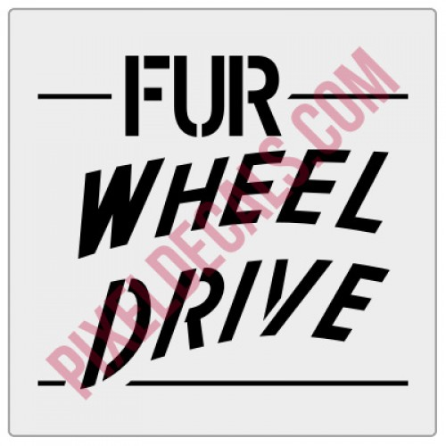 FUR Wheel Drive Tailgate Decal