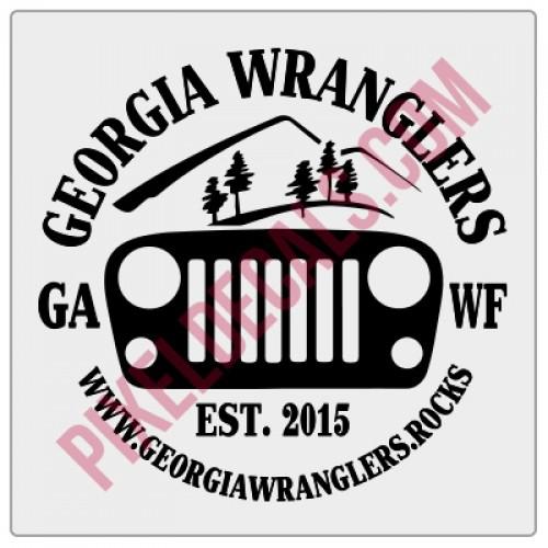 Georgia Wranglers Round Decal