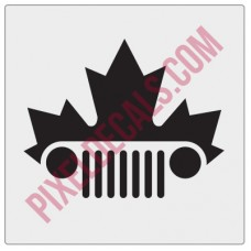 Canada Maple Leaf Grille Decal