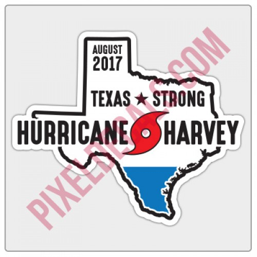 Hurricane Harvey 2017 Decal - Profits to Charity