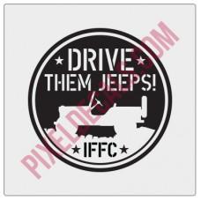 IFFC Drive Them Jps Decal