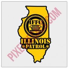 "IFFC Illinois Decal - Yellow - 2"" tall size"