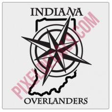 Indiana Overlanders Logo Decal Alternate