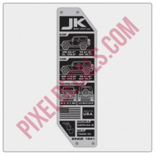 JK Tailgate Specs Badge