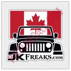 JKFreaks.com Jp Canadian Flag Decal - Full Color