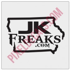 JKFreaks.com Iowa Decal