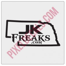 JKFreaks.com Nebraska Decal