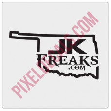 JKFreaks.com Oklahoma Decal