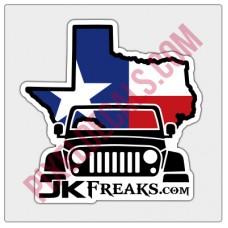 JKFreaks.com Jp Texas Flag Decal - Full Color