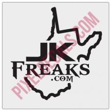 JKFreaks.com West Virginia Decal