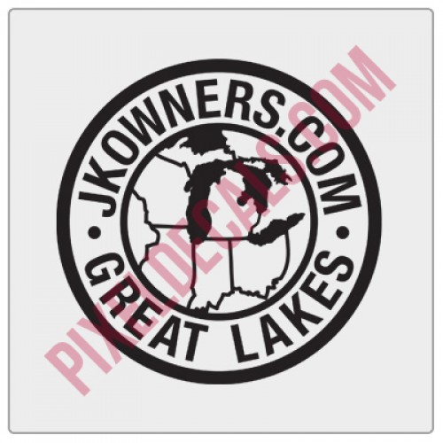 JKOwners Great Lakes Decal