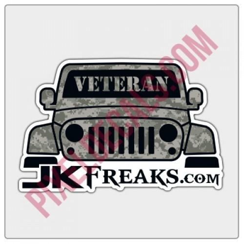 JKFreaks.com Jp Veteran Decal - Full Color