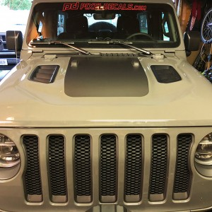 JL Rubi Power-Dome Hood Blackout Decal