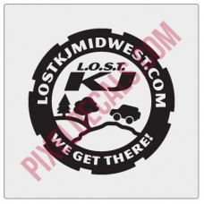 LOST Midwest Decal