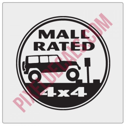 Mall Rated Decal - JK 4-Door