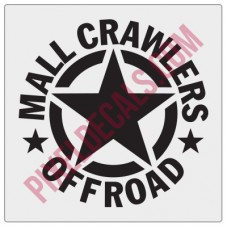 Mall Crawlers Offroad Invasion Star Fender Decal