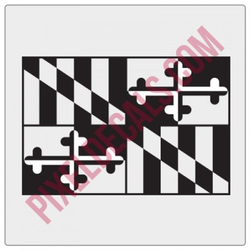 Maryland flag decal