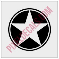 Military Star Decal - Alternate