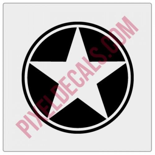 Military Star Decal - Alternate