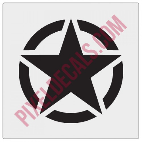Military Invasion Star Decal