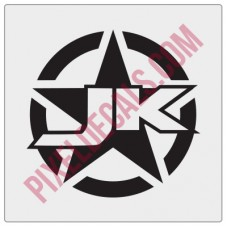 JK Military Invasion Star Decal