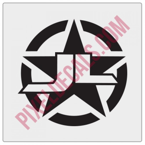 JL Military Invasion Star Decal